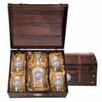 Purdue Boilermakers Pewter Accent Capitol Decanter Chest Set