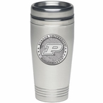 Purdue Boilermakers Stainless Steel Travel Mug with Pewter Accent