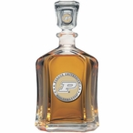 Purdue Boilermakers Yellow Capitol Glass Decanter with Pewter Accents