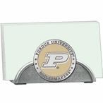 Purdue Boilermakers Yellow Metal Business Card Holder w/ Pewter Accent
