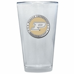 Purdue Boilermakers Yellow Pewter Accent Pint Beer Glasses, Set of 2