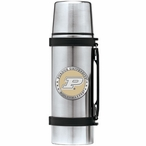 Purdue Boilermakers Yellow Pewter Accent Stainless Steel Thermos