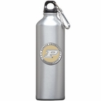 Purdue Boilermakers Yellow Pewter Accent Stainless Steel Water Bottle