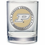 Purdue Boilermakers Yellow Pewter Double Old Fashion Glasses, Set of 2