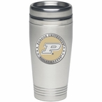 Purdue Boilermakers Yellow Stainless Steel Travel Mug w/ Pewter Accent