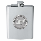 Purdue University Boilermakers Stainless Steel Flask w/ Pewter Accent