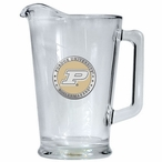 Purdue University Boilermakers Yellow Glass Pitcher with Pewter Accent