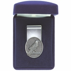 Raven Bird Steel Money Clip with Pewter Accent