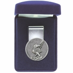 Roadrunner Steel Money Clip with Pewter Accent