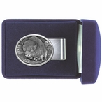 Running Buffalo Steel Money Clip with Pewter Accent