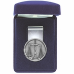 Scales of Justice Law Steel Money Clip with Pewter Accent