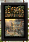 Season's Greetings Stained Glass Wall Art