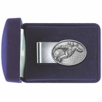 Snowboarder Steel Money Clip with Pewter Accent