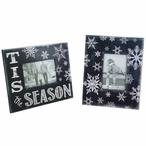 Snowflake Picture Frames, Set of 2
