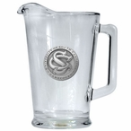 South Carolina Gamecocks Logo Glass Pitcher with Pewter Accent