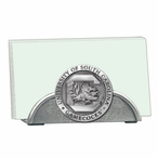 South Carolina Gamecocks Metal Business Card Holder with Pewter Accent