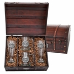 South Carolina Gamecocks Pewter Accent Beer Chest Box Set