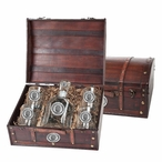 South Carolina Gamecocks Pewter Accent Capitol Decanter Chest Set