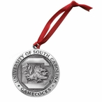 South Carolina Gamecocks Pewter Accent Ornaments, Set of 2