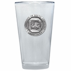 South Carolina Gamecocks Pewter Accent Pint Beer Glasses, Set of 2