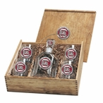 South Carolina Gamecocks Red Pewter Accent Capitol Decanter Box Set