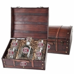 South Carolina Gamecocks Red Pewter Accent Capitol Decanter Chest Set
