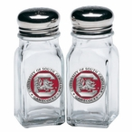 South Carolina Gamecocks Red Pewter Accent Salt & Pepper Shakers