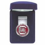South Carolina Gamecocks Red Pewter Accent Steel Money Clip