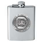 South Carolina Gamecocks Stainless Steel Flask with Pewter Accent
