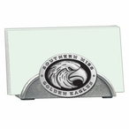 Southern Mississippi Black Metal Business Card Holder w/ Pewter Accent