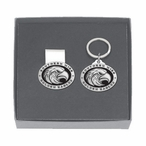 Southern Mississippi Black Pewter Money Clip & Key Chain Gift Set
