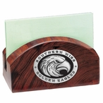 Southern Mississippi Black Wood Business Card Holder w/ Pewter Accent