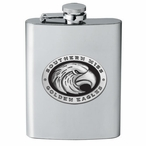 Southern Mississippi Golden Eagles Black Flask with Pewter Accent