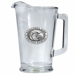 Southern Mississippi Golden Eagles Glass Pitcher with Pewter Accent