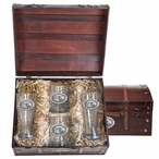 Southern Mississippi Golden Eagles Pewter Accent Beer Chest Box Set