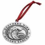 Southern Mississippi Golden Eagles Pewter Accent Ornaments, Set of 2