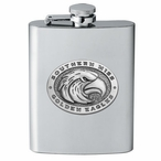 Southern Mississippi Golden Eagles Stainless Steel Flask with Pewter