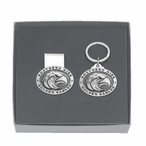 Southern Mississippi Pewter Accent Money Clip & Key Chain Gift Set