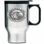 Southern Mississippi Travel Mug with Handle & Pewter Accent