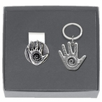Spirit Hand Money Clip & Key Chain Gift Set with Pewter Accents