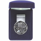 State of Texas Steel Money Clip with Pewter Accent