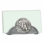 Stephen F Austin Lumberjacks Metal Business Card Holder with Pewter