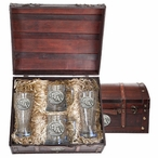 Stephen F Austin Lumberjacks Pewter Accent Beer Chest Box Set
