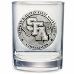 Stephen F Austin Lumberjacks Pewter Accent DOF Glasses, Set of 2