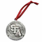 Stephen F Austin Lumberjacks Pewter Accent Ornaments, Set of 2