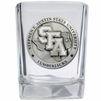 Stephen F Austin Lumberjacks Pewter Accent Shot Glasses, Set of 4