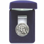 Stephen F Austin Lumberjacks Pewter Accent Steel Money Clip