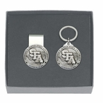 Stephen F Austin Lumberjacks Pewter Money Clip & Key Chain Gift Set