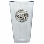 Stephen F Austin Lumberjacks Pewter Pint Beer Glasses, Set of 2
