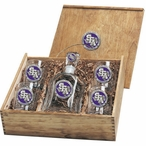 Stephen F Austin Lumberjacks Purple Pewter Capitol Decanter Box Set